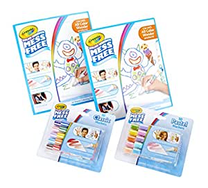 Crayola Color Wonder Markers and Paper, Mess Free Coloring, 60 Blank Coloring Pages & 20 Markers