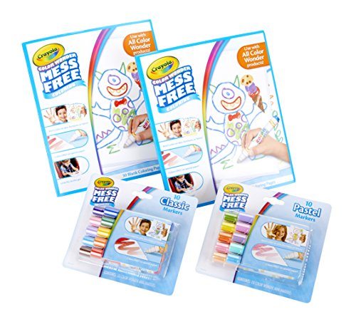 Of Magic Color The Watch (Crayola Color Wonder Markers and Paper, Mess Free Coloring, 60 Blank Coloring Pages & 20 Markers)