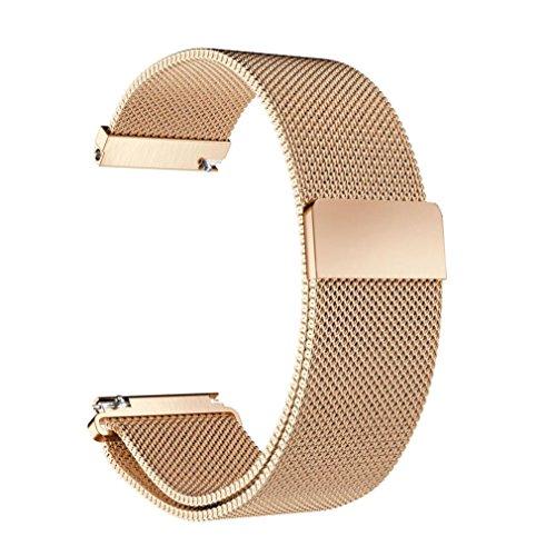 - RTYou(TM) Milanese Magnetic Loop Stainless Steel Band for Garmin Fenix Chronos (Rose Gold)