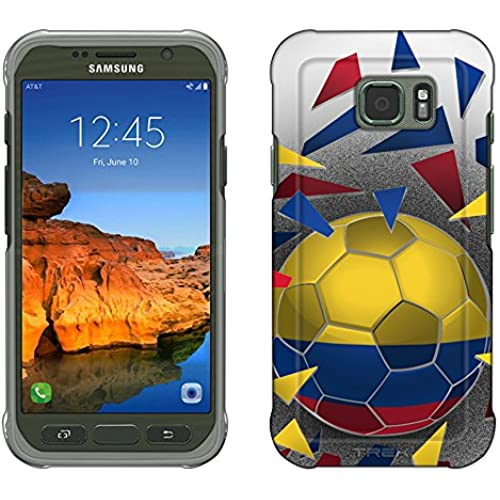 Samsung Galaxy S7 Active Case, Snap On Cover by Trek Soccer Ball colombia Flag Slim Case Sales