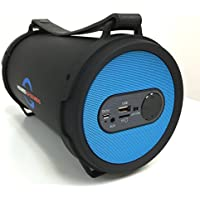 Portable Bazooka Bluetooth Speaker Subwoofer Protective Rubber Rims - Blue