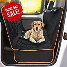 Doggie World Dog Car Seat Cover - XL Cars, Trucks and Suvs Luxury Full Protector, w/Extra Side Flaps, Seat Belt Openings - Hammock Convertible for your Pet - Waterproof, Non-Slip - Machine Washable