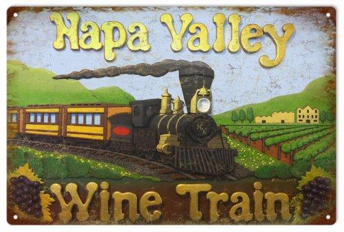 (Napa Valley California Wine Train Aluminum Reproduction)