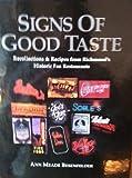 Signs of Good Taste, Ann Meade Besenfelder, 0967620406