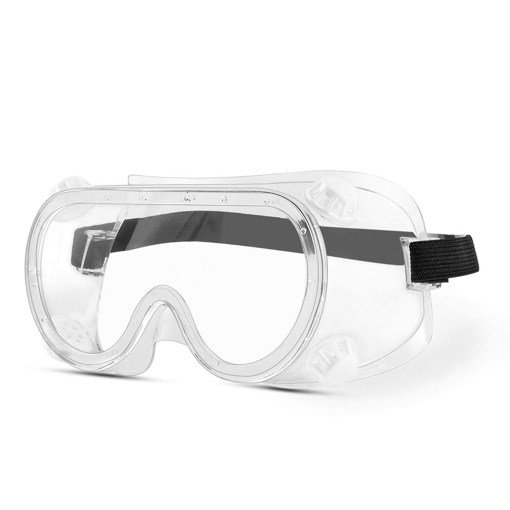 Adjustable Strap Safety Goggles Anti-Fog Goggles Protective Goggles with 4 Breathable Vents
