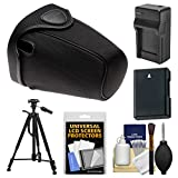 Nikon CF-DC2 Semi-Soft Holster Digital SLR Camera Case for D3300, D3400, D5500, D5600 with EN-EL14 Battery & Charger + Tripod + Kit