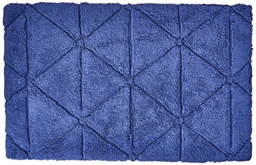 Tapete de Banho 1.800g Barcelona 50X80, Naturalle, Azul Marinho
