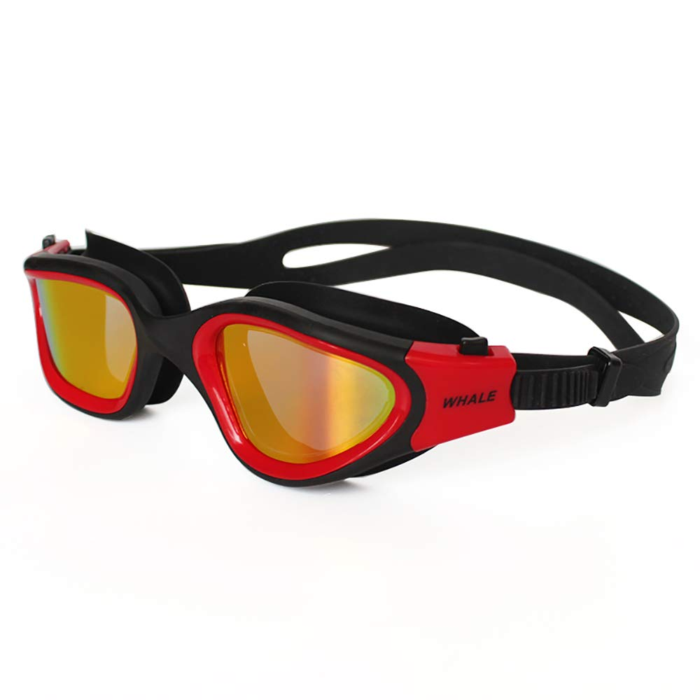 Red Professional Adult AntiFog UV Predection Lens Men Women Swimming Goggles Waterproof Adjustable Silicone Swim Glasses in Pool