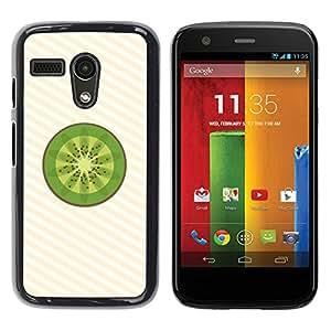 LECELL -- Funda protectora / Cubierta / Piel For Motorola Moto G 1 1ST Gen I X1032 -- Minimalist Kiwi Fruit Slice --