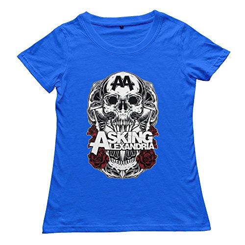 Goldfish Women's Nerdy Normal Fit Asking Alexandria T-Shirt
