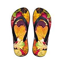 ZHOUZJ Flip Flops Women Summer Casual Slippers 3D Print Women's Rubber Beach House Shoe