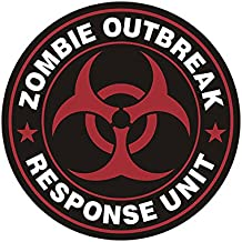 1080GPHX Zombie Outbreak Response Unit Red Decal Control Team Vinyl Sticker Made in USA
