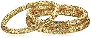 """Kendra Scott """"Filagree"""" 14k Gold-Plated Lucca Bangle Bracelet, Set of 3"""
