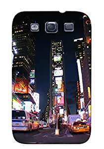 For Galaxy S3 Fashion Design Times Square New York Usa City Cities Neon Lights Traffic Case-jlHrjeY2820Cjlap