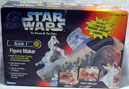 (Star Wars Power of the Force Slave I Figure Maker with Stormtrooper, Princess Leia & Boba Fett molds)