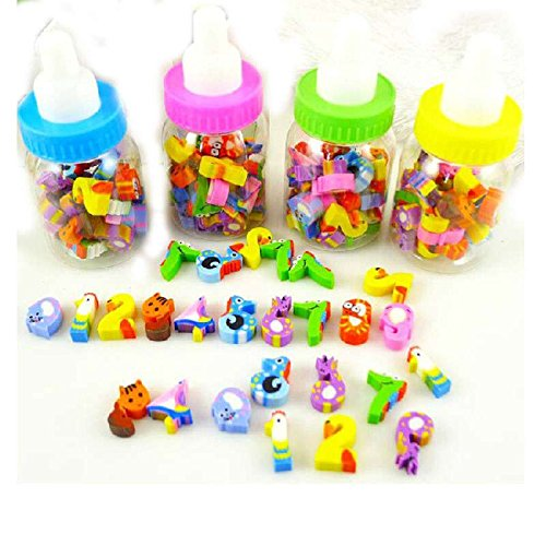 S&M TREADE-26x Mini Cute Cartoon Number Rubber Pencil Eraser Children Stationery Gift Toy