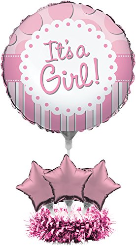 Creative Converting Balloon Centerpiece Kit, It's a Girl (Center Piece Plate compare prices)