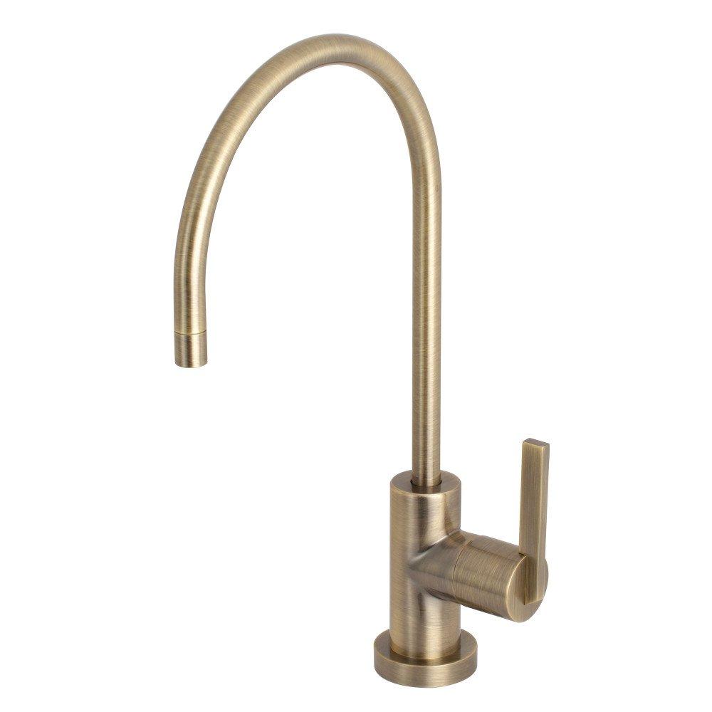 Kingston Brass KS8193CTL 1/4 Turn Water Filtration Faucet, Antique Brass by Kingston Brass