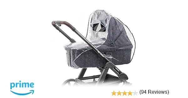 Protector de lluvia universal para cochecitos / capazos de bebé (p. ej. Bugaboo, Stokke, Jané, etc.) | Buena circulación de aire, ventana con visera, ...