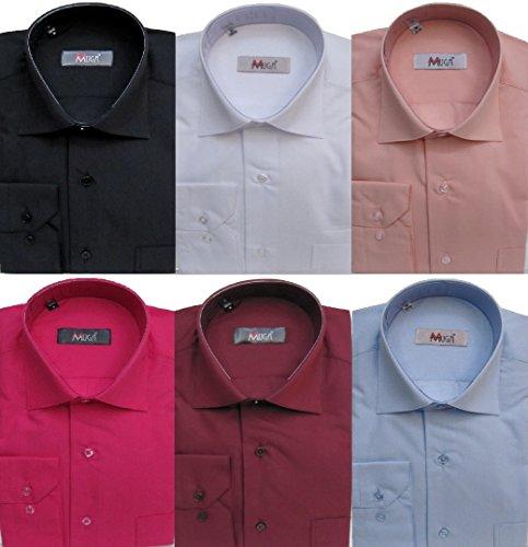 Muga Hombre camisas deportivos con manguito, ligeramente entallado, burdeos, tamaños S de 6x l rojo burdeos