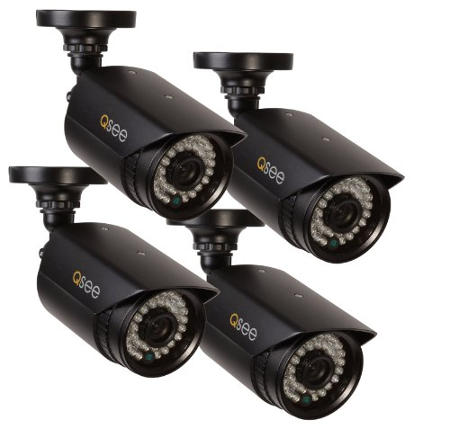 Q-See-QM9702B-4-High-Resolution-960H700TVL-Weatherproof-Cameras-with-100-Feet-Night-Vision-4-Pack-Black