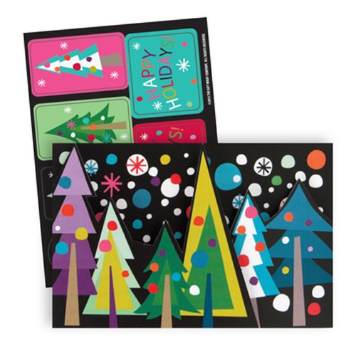 The Gift Wrap Company Boxed Holiday Cards, Medium, Treeline, Multicolor - Treeline Pack