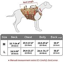 PET ARTIST Arnés táctico para Perros K9 para Perros medianos y ...