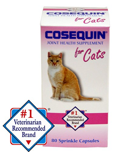 Cosequin For Cats - Nutramax Cosequin Capsules, 80 Count, 4-Pack