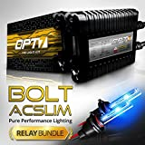 Bolt AC 35w Slim HID Xenon Conversion Kit w/ Relay & Capacitors Bundle 9006 [10000K Deep Blue] 2 Yr Warranty