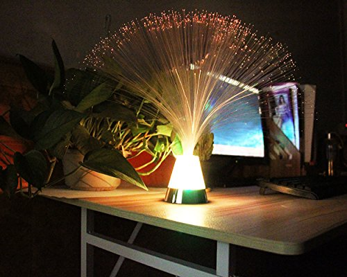 Remote Control Fiber Optic Party Colorful Lantern LED Table Centerpiece MultiColor Changing Festival Atmosphere Lamp by Lianya (Image #1)