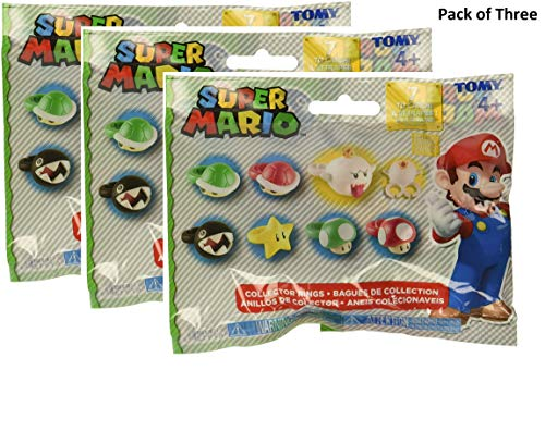 - Super Mario Brothers Collector Rings Blind Bag Pack of Three