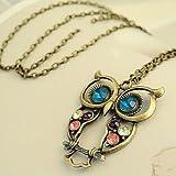 Retro Wisdom Owl Pendant Necklace, Bird Jewelry for