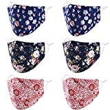 Reusable Breathable Cloth Face Mask Women Men, Washable Cute Designer Fashion Cotton FabricSpandex Printed Adjustable 3 4 Layer 3ply Stretchy Most Comfortable Facemask, Leopard Cheetah Lepard Paisley (Color: 6 Floral Paisley)
