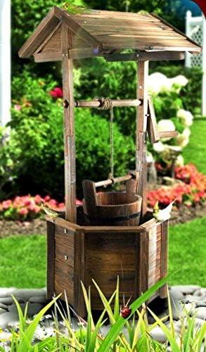Wishing Well - Fuente de madera para jardín (96 cm): Amazon.es: Jardín