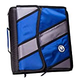 Case-it 2-Inch O-Ring Zipper Binder with Removable Tab File, Blue (D-901-BLU)