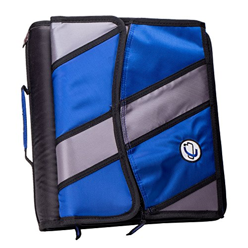 Binder Removable 3 2 Ring (Case-it Sidekick 2-Inch O-Ring Zipper Binder with Removable Tab File, Blue, D-901-BLU)