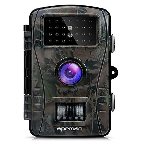 """: APEMAN Trail Camera Full HD 2.4"""" LCD Game&Hunting Camera with 940nm Upgrading IR LEDs Night Vision up to 65ft/20m IP54 Spray Water Protected Design"""