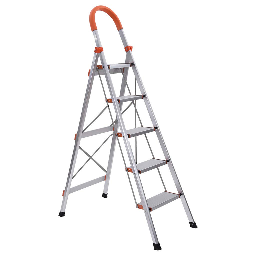 Foldable 330-Pound Duty -Foot Stepladder with 5 Step Platform Ladders(Open Size:61in×38in×16.5in)