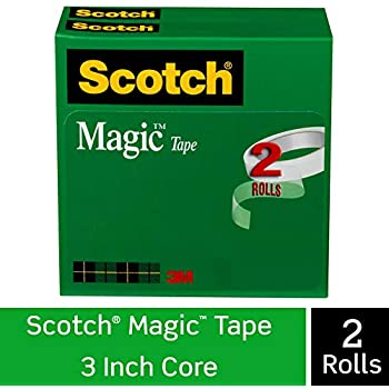 Scotch Brand Magic Tape, 2 Rolls, Numerous Applications, Cuts Cleanly, Engineered for Repairing, 3/4 x 2592 Inches, Boxed (810-2P34-72)