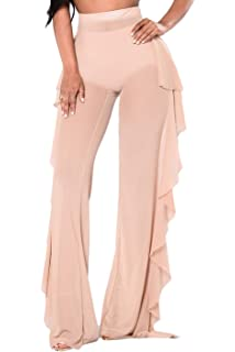 e1939361907 wsevypo Women Sexy See Through Sheer Mesh Ruffle Pants Perspective Swimsuit  Bikini Bottom Cover up Party