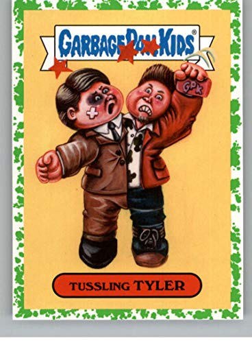 2019 Topps Garbage Pail Kids We Hate the '90s Films Sticker B-Names Puke Non-Sport #20 TUSSLING TYLER Collectible Trading Card Sticker (Fight Club)