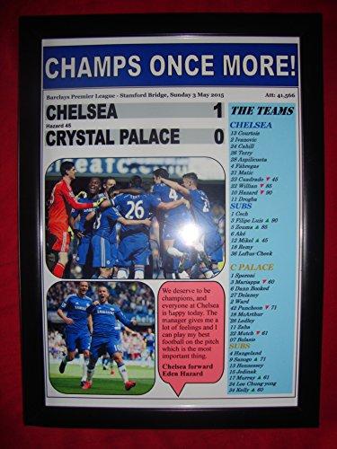 Eden Framed - Chelsea 1 Crystal Palace 0 - Chelsea champions 2015 - framed print