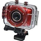 Vivitar DVR783HD HD Waterproof Action Video Camera Camcorder (Red) with Helmet & Bike Mounts