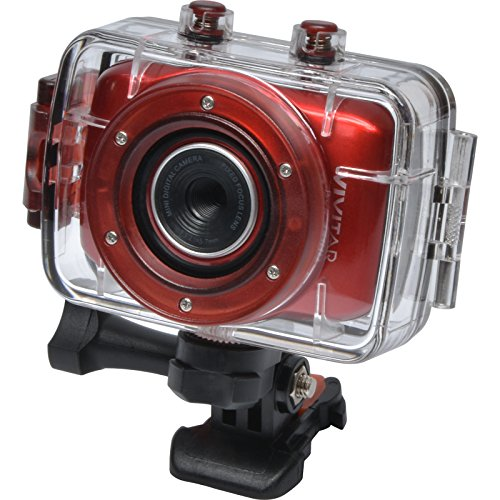 Vivitar DVR783HD HD Waterproof Action Video Camera Camcorder (Red) with Helmet & Bike Mounts Action Cameras VIVITAR