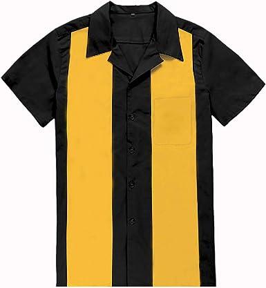 Candow Look Twill Retro Camp Hombres Camisas Bowling Clothing Two-Tone: Amazon.es: Ropa y accesorios