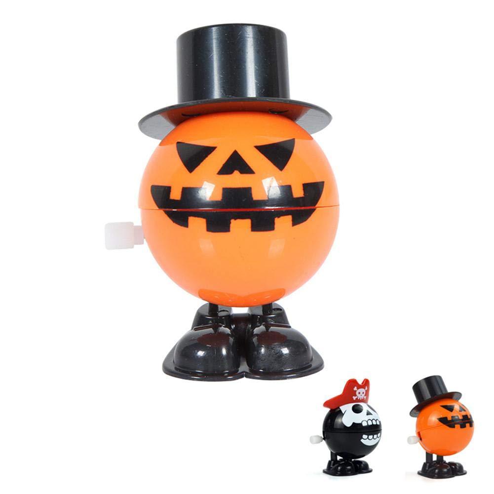 KOBWA Aufzieh-Spielzeug, Kürbis-Pirat-Bälle, Piraten-Zähne, Hexe, Vampir, Urlaub, Party-Gastgeschenk für Halloween-Requisiten, Shopping-Malls, lustiges Spielzeug, Kindergarten-Geschenk Kürbis-Pirat-Bälle Piraten-Zähne