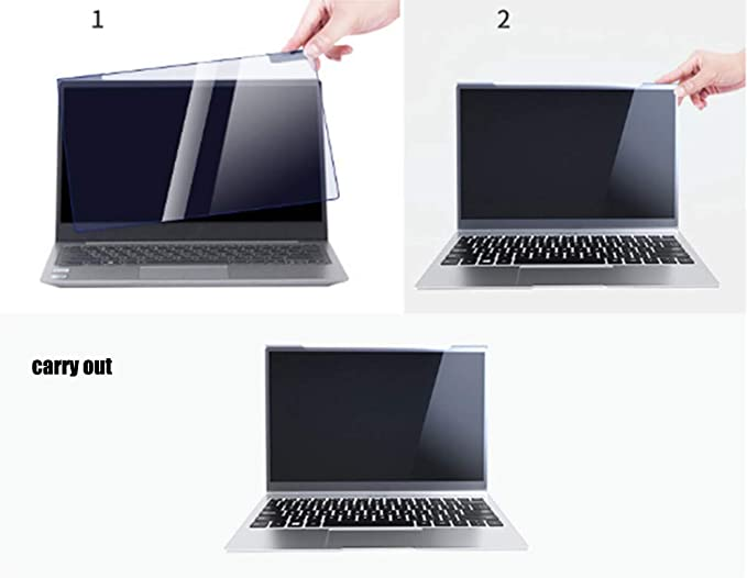 Laptop Screen Protector Anti Blue Light Filter Relieve Eye Strain,12-17Inch 16:9 Widescreen Hanging Anti-Glare Screen Protector Blue Light Filter,15.6in