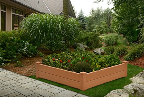 Chelsea 48''W x 48''L Composite Vinyl Raised Garden Bed by New England Arbors