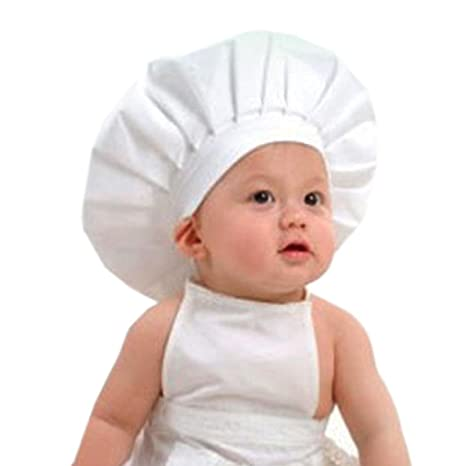 Koly Bebé Cocinero traje blanco apoyo de la fotografía