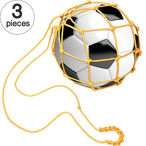 Gejoy 3 Packs Solo Soccer Trainer Football Kick Trainer Soccer Ball/Volleyball Handle Trainer Soccer Ball Training Juggling Net Soccer Solo Skill Practice Training Tool
